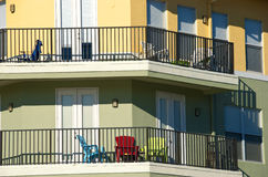 Bright Balconies Stock Image