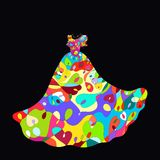 Bright ball dress with exquisite pattern.  Royalty Free Stock Photography