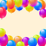 Bright Ballon Frame Background. And Place for Text in the Middle Royalty Free Stock Photos
