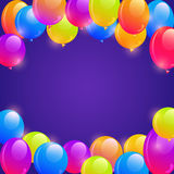 Bright Balloon Frame Background Stock Image