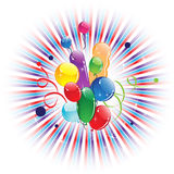Bright balloons Royalty Free Stock Photography