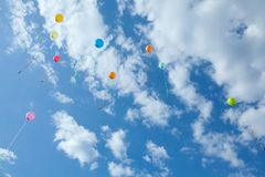 Bright balloons Stock Image