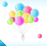 Bright balloons. Vector bright balloons isolated on white Stock Photography