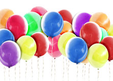 Bright Balloons Background on White stock images