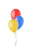 Bright balloons isolated on white Stock Photos