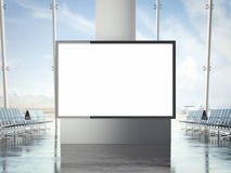 Bright banner in the airport. 3d rendering Royalty Free Stock Image