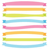 Bright banner ribbons Royalty Free Stock Photography