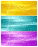 Bright banners with abstract chaotic wavy lines Stock Image