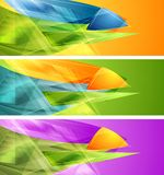 Bright banners with abstract shapes Stock Image