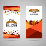 Bright banners with autumn leaves. royalty free illustration