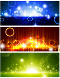 Bright banners with shining stars Stock Photo