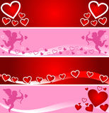 Bright banners for Valentine's Day. Royalty Free Stock Photo