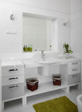 Bright bathroom with chrome tap Royalty Free Stock Photography