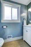 Bright bathroom in light blue Royalty Free Stock Image
