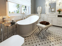 Bright Bathroom Provence Stock Images