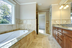Bright bathroom with window Royalty Free Stock Images