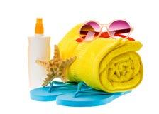 Bright beach accessories Stock Photo
