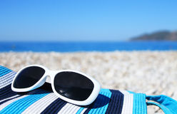 Bright beach accessories Stock Images