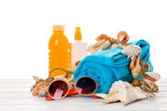 Bright beach accessories Royalty Free Stock Images