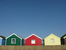 Bright beach huts in England Stock Photography