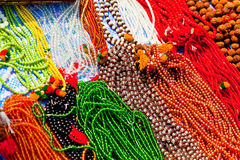 Bright beads. Decorative ornaments for women Stock Photography