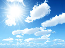 Bright beams of the sun Royalty Free Stock Photos
