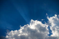 Bright beams of a sunlight Royalty Free Stock Images