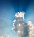 Bright beams of a sunlight Royalty Free Stock Image