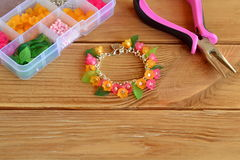 Bright beautiful children's bracelet Stock Images