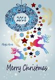 Bright beautiful Christmas card - great idea for a gift Stock Image