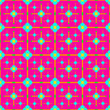 Bright beautiful delicate flowers on a pink background seamless pattern Stock Images
