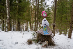 Bright beautiful effigy of Maslenitsa. Stock Images