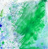 Bright beautiful painted texture on paper with paints Royalty Free Stock Image