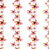 Bright beautiful tender sophisticated lovely tropical hawaii floral summer pattern of a tropic light pink and yellow flowers water Royalty Free Stock Photos