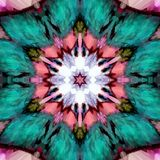 Bright and beautifully floral intrique mandala design. Beautifully floral intrique mandala design Royalty Free Stock Images
