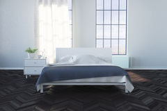 Bright Bedroom. 3D render of a bright bedroom Royalty Free Stock Photography