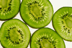 Bright big kiwi slices. Macro Stock Images