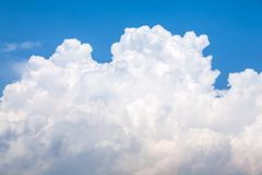 Bright big puffy cloud Royalty Free Stock Photography