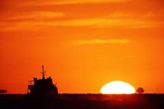 Bright big sun Stock Photo