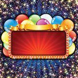 Bright Billboard with Balloons Royalty Free Stock Images