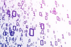 Bright binary code background Royalty Free Stock Image