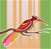 Bright Bird vector illustration with background pop art Royalty Free Stock Image