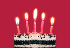 Bright birthday candles Stock Image