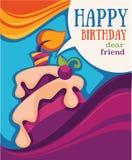 Bright birthday card Royalty Free Stock Photo