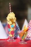 Bright Birthday Party Celebration Decorations royalty free stock photo