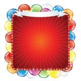 Bright Birthday Sign. Vector Illustration Stock Image