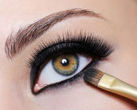 Bright black eye make-up Royalty Free Stock Images