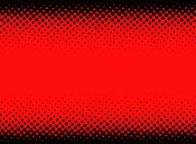 Black and red dotted halftone background. Bright black and red abstract dotted background. Halftone effect. Vector illustration Royalty Free Stock Photography