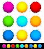 Bright blank bade set - 2 Variation, 9 Bright color. S. Eps 10 vector illustration Royalty Free Stock Photo