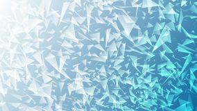 Bright blue abstract polygonal splinters video animation stock video footage